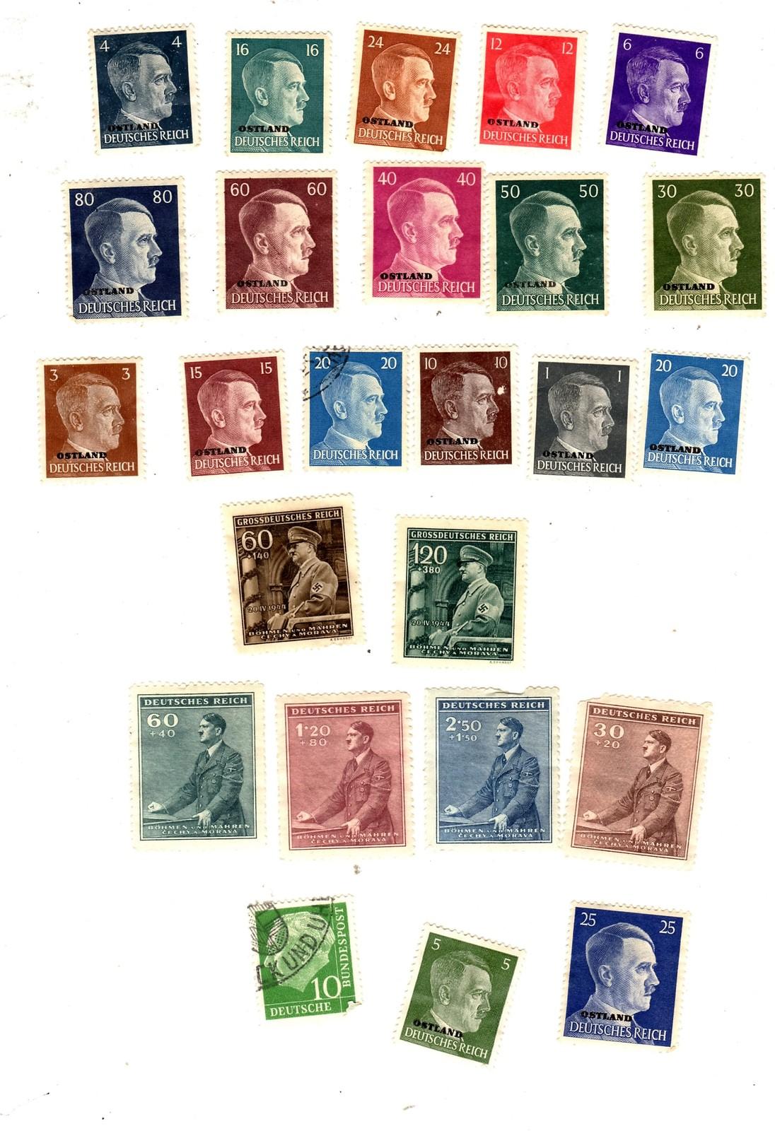 Stamps - Germany- European Postage -Germany (25 vintage stamps)
