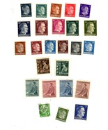 Stamps - Germany- European Postage -Germany ((25 vintage stamps) - $2.50