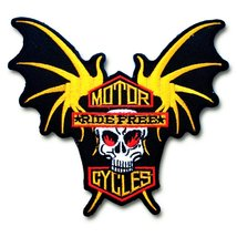 Biker Rider Motorcycles Ride Free Bat Skull Wings MC Motorhead Racing Mo... - $19.80