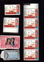 Stamps - Bahamas Postage Stamps - Lot of 9 Vintage Stamps - $1.25