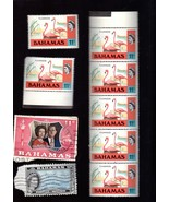 Stamps - Bahamas Postage Stamps - Lot of 9 Vintage Stamps - $1.95