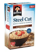 Quaker Steel Cut Quick Oatmeal Brown Sugar and Cinnamon 8 ct - $9.99