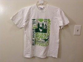 Good Condition Fruit of the Loom M Natural History Museum White Graphic T-Shirt
