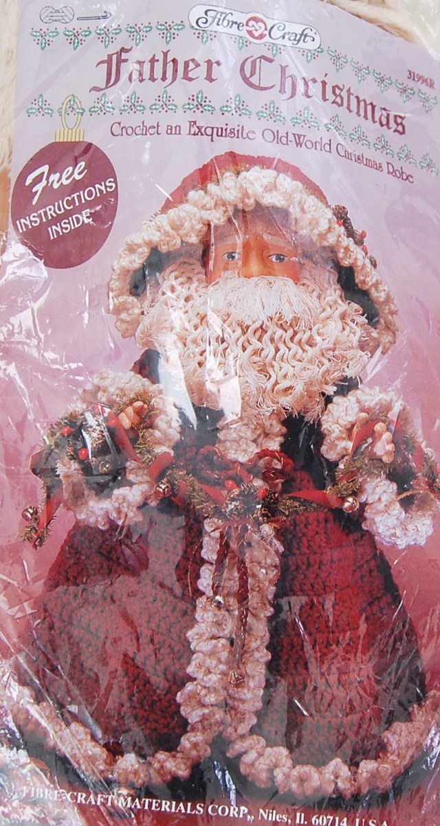Crochet Pattern Our Father : Fibre Crafts Father Christmas Doll with Crochet Pattern ...