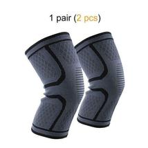 Ship from USA 1 Pair Knee Brace Knee Compression Sleeve Support for Men Women Ru image 4