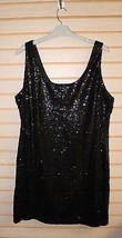 GORGEOUS NEW WOMENS PLUS SIZE 3X BODYCON SPARKLY BLACK SEQUINED PARTY DRESS - $19.34