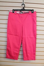 New Womens Covington Size 12 Bright Pink Cropped Pants Capri Pants Capris - $9.74