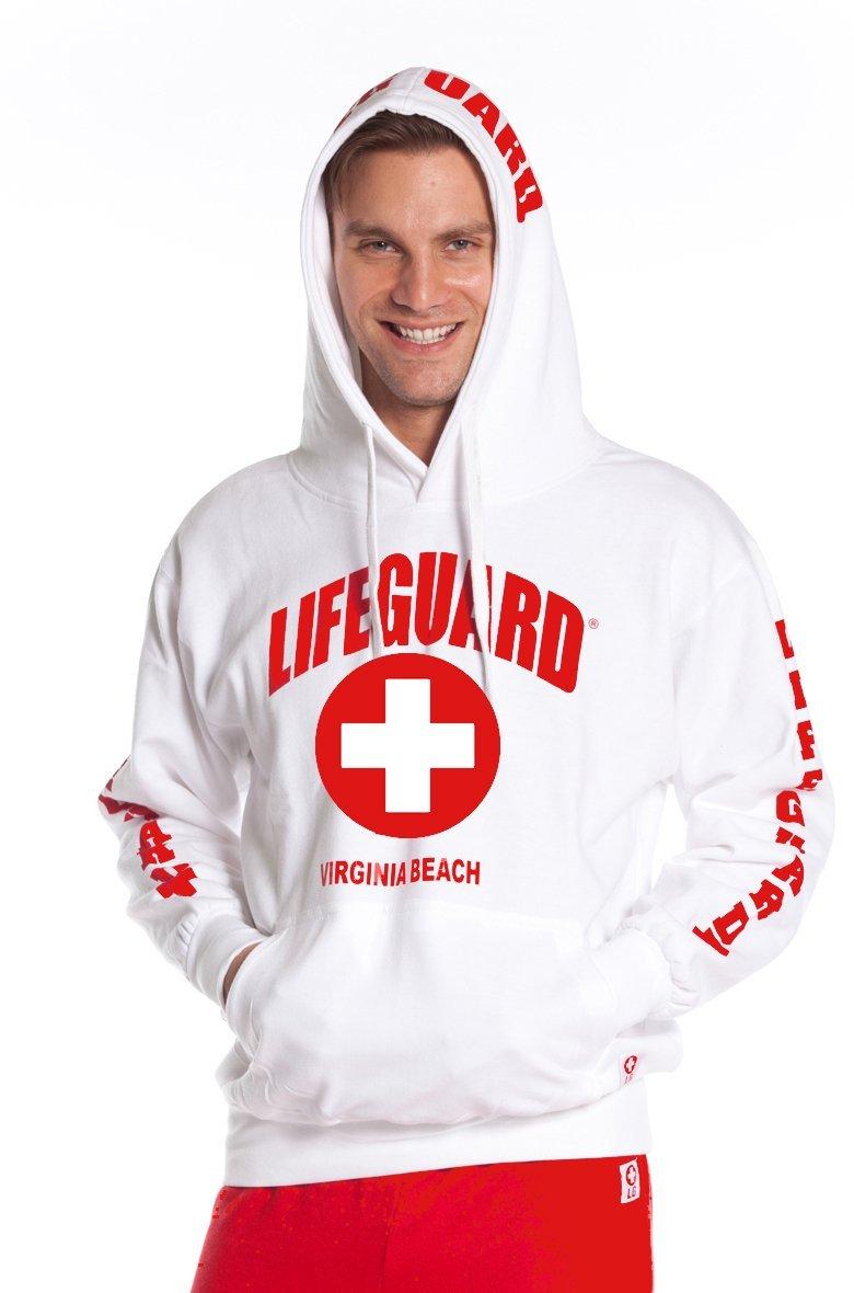 White lifeguard hoodie