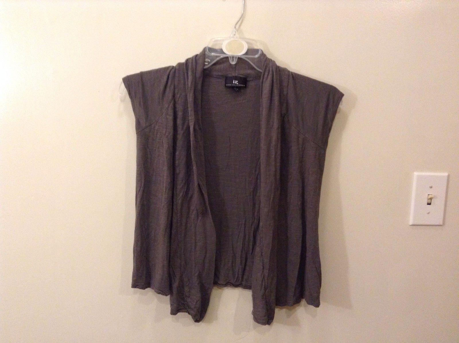 IZ Byer California S Gray Shawl Vest No Sleeves Thin Material 100% Rayon