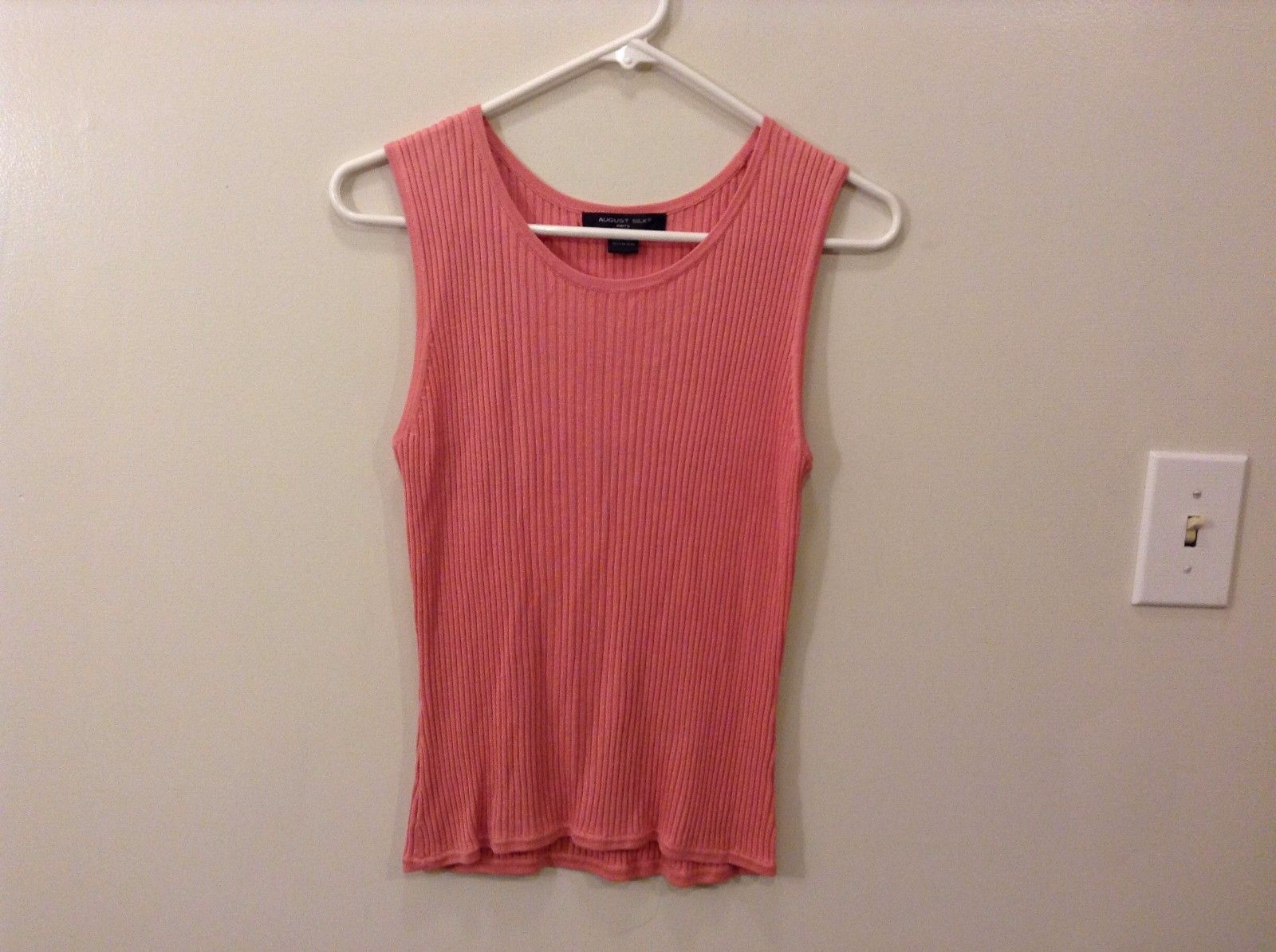 August Silk M Pink Knit Tank Top Flexible Material Great Condition