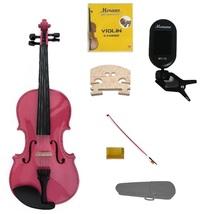 3/4 Size Hot Pink Violin,Case,Pink Bow+Rosin+2 Sets Strings+2 Bridges+Tuner - $54.00