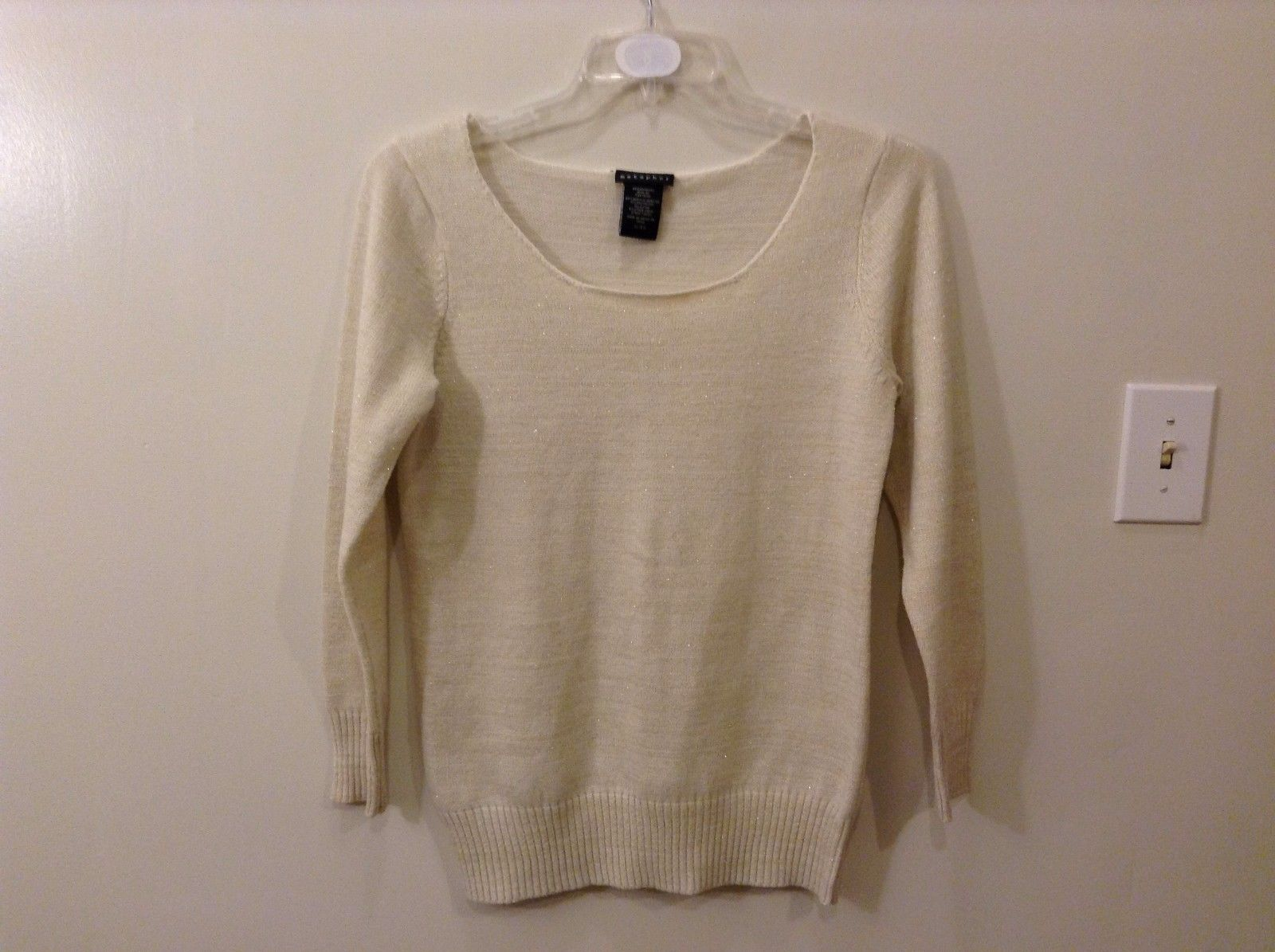 Metaphor XL Champagne Gold Sparkly Sweater Great Used Condition