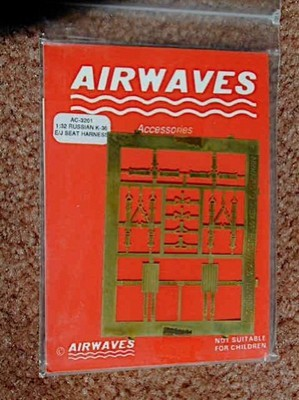 Airwaves 1/32 Scale USSR K-36 Ejector Seat Harness NEW!