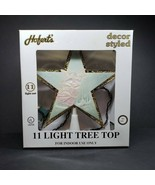 Vintage Hoferts 11 Light Tree Top Star Angel Illuminates Multi Colors Wo... - $24.99