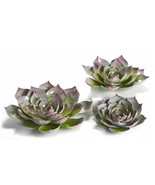 Set of 3 Metal Flower Design Wall Decor - 3D Design With Red Tips - $108.89