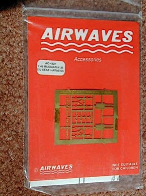 Airwaves 1/48 Scale  USSR K-36 Ejector Seat Harness NEW