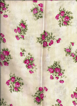 new Beige with Pink Flowers 100% cotton by the 1/4 yard - $2.50