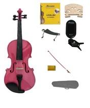 1/8 Size Pink Violin,Case,Pink Bow+Rosin+Strings+2 Bridges+Tuner+Shoulder Rest - $59.99