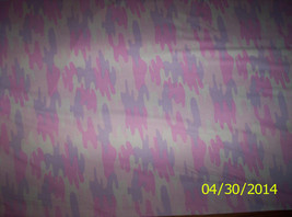 New Pink and Purple Baby Camo 100% cotton fabric by the 1/2 yard (Camouf... - $5.50
