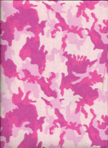 New Pink Urban Camouflage 100% Cotton Flannel Fabric by the 1/4 yard (camo) - $2.50
