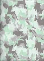 New Aqua Urban Camouflage 100% Cotton Flannel Fabric by the 1/2 yard (camo) - $3.75