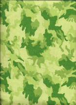 New Green Urban Camouflage 100% Cotton Flannel Fabric by the 1/4 yard (c... - $2.50