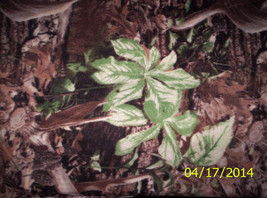"New Wild Wings Brown and Green Leaves and Antlers Fleece Fabric 1yard 21"" x 58"" - $15.00"
