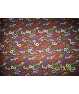 new Brown Number Toss with Bunnies in the Background 100% cotton by the 1/4 yard - $2.48
