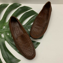 Cole Haan Country Womens Loafer Flats Size 8.5 Brown Leather Woven Slip On - $37.61