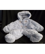 ROTHCHILD BLUE PLUSH BUNTING SNOWSUIT  Puppy Dogs blue 0-6 MONTHS - $19.55