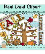 Autumn Leaves Clipart - $1.25