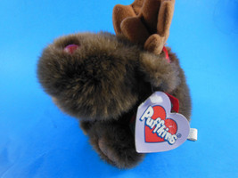 "Swibco PUFFKINS Plush Christmas Moosletoe Moose12-25-99 Bean Bag 4"" + an... - $4.63"