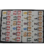 Double 12 Dominoes Prof Size NUMBERS IN COLOR Free Shipping USA - $32.95