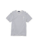 Ralph Lauren Boys Cotton Blend Stripe Pocket V-Neck Short Sleeve Tee T-S... - £12.14 GBP