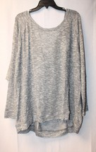 NEW LANE BRYANT WOMENS PLUS SIZE 28W 4X SILVER METALLIC DRAPED BACK WEDG... - $19.33