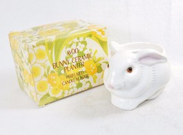 Avon Collectible Bunny Ceramic Planter/Candle Holder, Handcrafted w/Orig... - $19.55