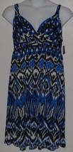 INC International Concepts Maxi Dress Blue Black White Womens Plus Size ... - $39.55