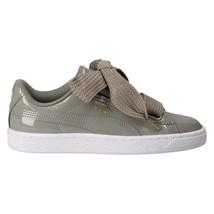 Puma Basket Heart Hyper Patent Rock Ridge Gray 363073 12 Womens Shoes Size 6.5 - $46.95