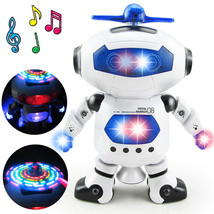 Space Dancing Humanoid Robot Toy With Light Children Pet Brinquedos Ele... - $19.25