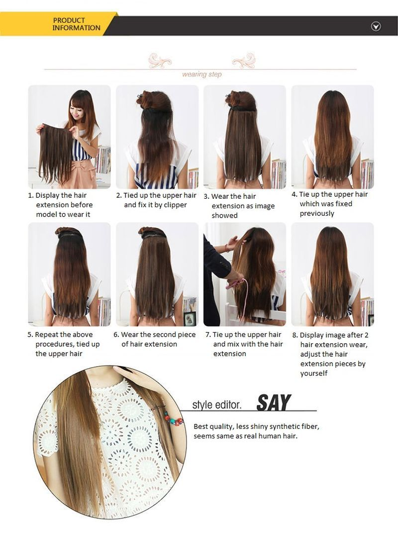 61cm24 120g seamless 5 clips wire and 16 similar items 61cm24 120g seamless 5 clips wire synthetic straight hair extension wig solutioingenieria Choice Image