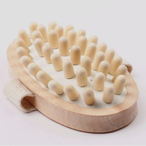 Hand-Held Natural Wood Massager Cellulite Reduction Slimming Massager/Body Scrub - $10.00