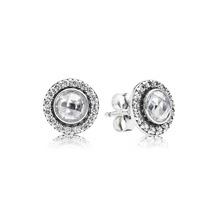 925 Sterling Silver Brilliant Lagacy with Clear CZ Stud Earrings QJCB569 - $21.99