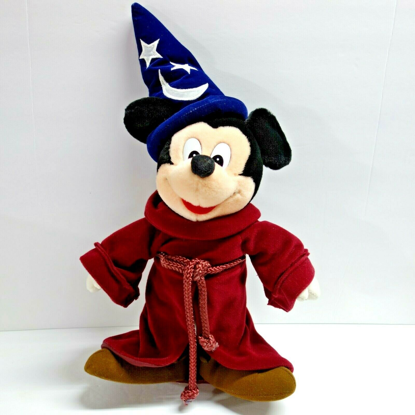 "Disney Mickey Mouse Fantasia 16"" Plush Doll Stuffed Wizard Sorcerers Apprentice"