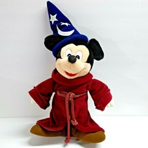 "Disney Mickey Mouse Fantasia 16"" Plush Doll Stuffed Wizard Sorcerers App... - $14.99"