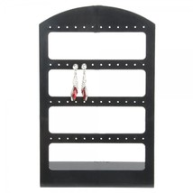 48 Holes Earrings Organizer Display Stand Medium Size Black - $22.43 CAD