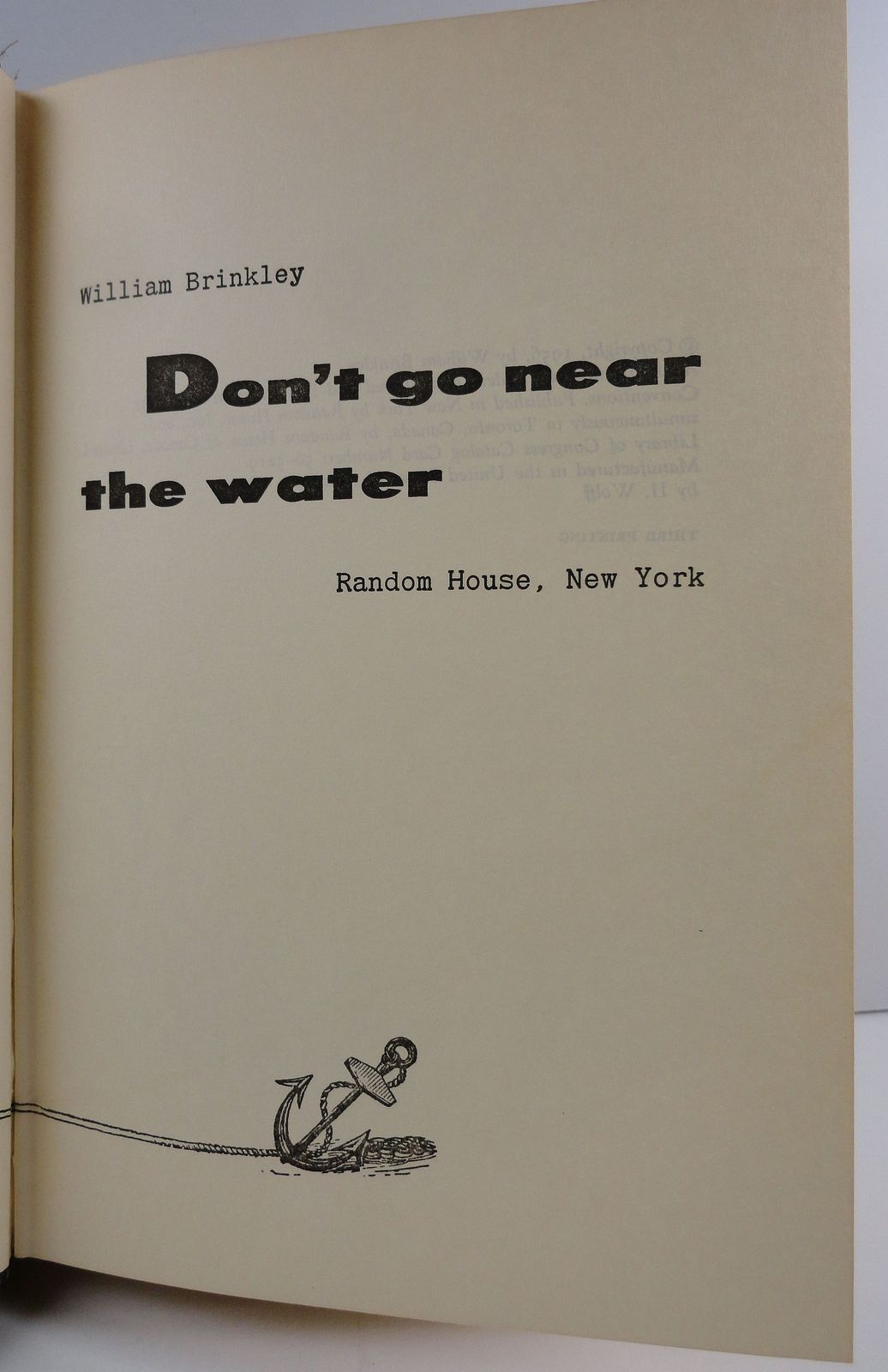 Don't Go Near the Water by William Brinkley 1956 HC/DJ