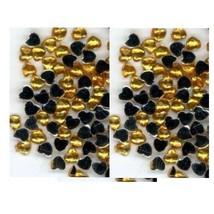 100 Rhinestones  GOLD  new lots Arts Crafts HEARTS - $4.75