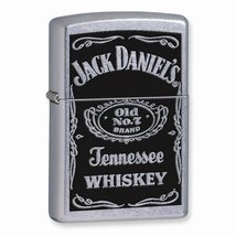 Zippo Jack Daniels Label Street Chrome Lighter - $33.07