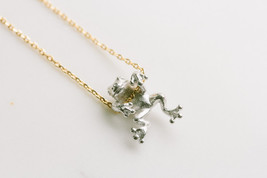 Frog necklace , Hanging Frog Necklace in 3 colors - $13.00
