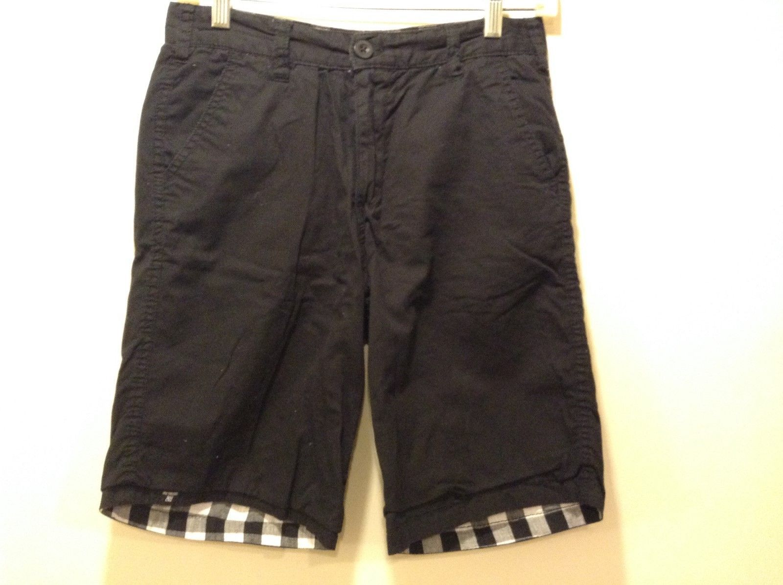 Epic Threads Black/White/Checked Reversible Shorts